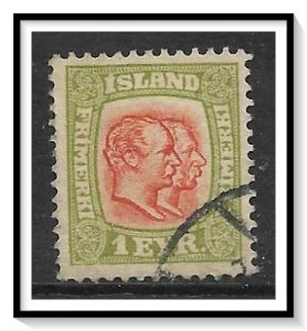 Iceland #71 Kings Christian IX & Frederik VIII Used