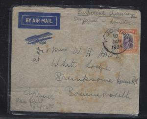 SARAWAK POSTAL HISTORY  (P1509B) COVER 1935 IMPERIAL AIRWAYS FLIGHT SCARCE