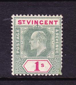 ST VINCENT  1902  1/-   KEVII  MLH  SG 82