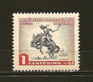 Uruguay 606 Horse Breaking MNH
