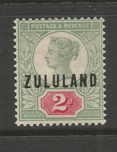 ZULULAND  1888-93  2d  QV  MH  SG 3