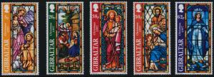 Gibraltar 740-4 MNH Christmas, Art, Stained Glass