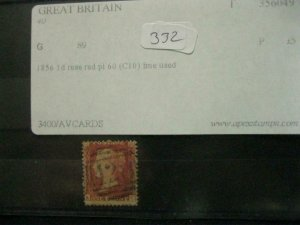 1856 1d ROSE RED PL 60 (C10) FINE USED