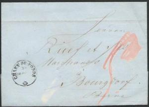 SWITZERLAND 1858 folded entire CHAUX - DE - FONDS cds to Burgdorf..........56065