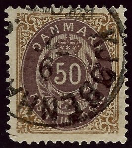 Denmark SC#33 Used F-VF Cat $30.00...steal the deal!!