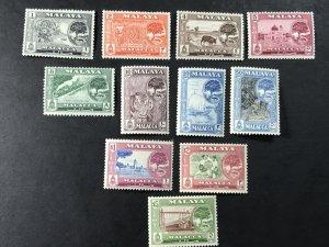 MALAYA/MALACCA # 56-66 -MINT/HINGED-COMPLETE SET--------1960