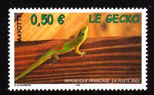 Mayotte MNH Scott #188 50c Gecko