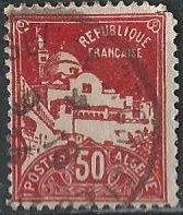 Algeria 50 (used) 50c La Pêcherie mosque, dark red (1930)