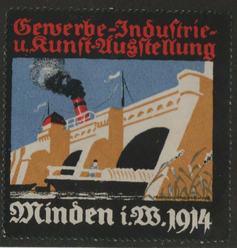 ? Genserbe-Induftrie-u. Runft-Uusftellung Minden 1914 ? label -x2