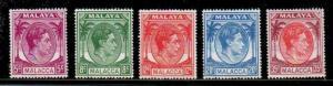 Malaya-Melacca Melaka Scott 22-6 Mint NH (Catalog Value $26.75)