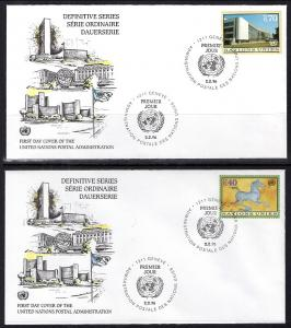 UN Geneva 278-279 UN Postal Admin Set of Two U/A FDC