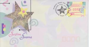 1996 Australia Festive Frama Label FDC