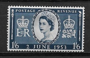 1953 Great Britain 316 1sh6p Queen Elizabeth MHR