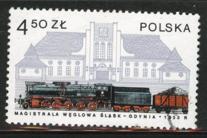 Poland Scott 2256 Used 1978  favor canceled Locomotive