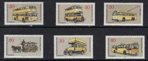 Germany  Berlin 1973  MNH  buses  complete