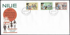 Niue 1977 Personal Services set on official unaddressed FDC
