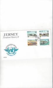 Jersey 336-9 Aviation History II FDC Jersey Post Office