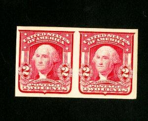 US Stamps # 320 Superb OG NH Imperforate Gem Pair
