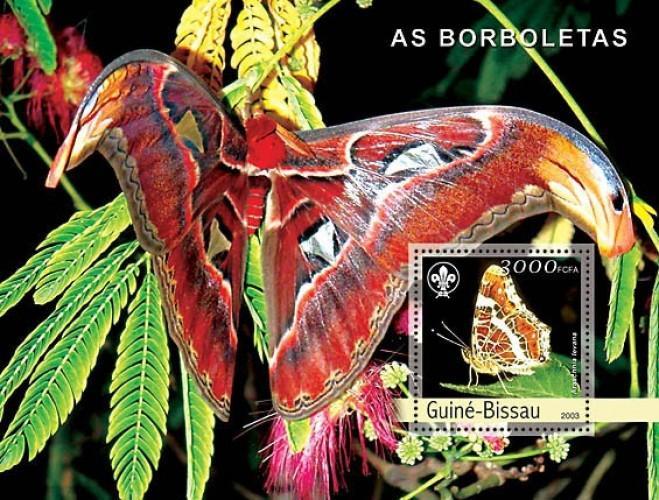 Guinea-Bissau MNH S/S Pretty Butterflies 2003