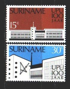 Suriname. 1974. 680-81. 100 years of UPU. MNH.