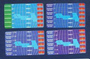 KIRIBATI - Scott 618-621 - FVF MNH - airmail Stamp Card Set - RARE!! - 1994