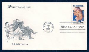UNITED STATES FDC 20¢ The Barrymores 1982 Readers Digest
