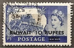 Kuwait 119 Used 1955 10r on 10sh KGVI Defin.