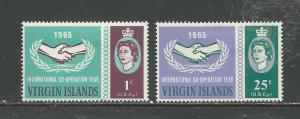 British Virgin Islands # 161-162 Unused HR