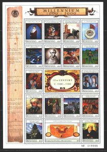 Micronesia. 2000. Small sheet 841-57. Millennium, the history of Chinese disc...