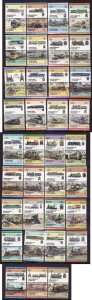 St Vincent Grenadines-Sc#295//346- id4-thirty five unused,NH pairs from the set-