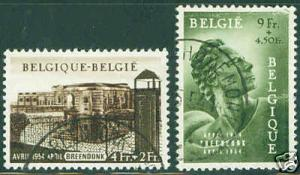 BELGIUM Scott B559-60 1954 Prisoner short set CV $35