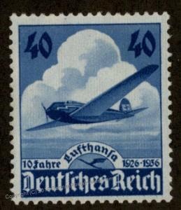 Germany Michel 603 MNH Postfrisch Lufthansa 10Yr Anniversary 91823