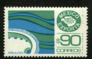 MEXICO Exporta 1470 $90P Abalone Fluor Paper 8 MNH