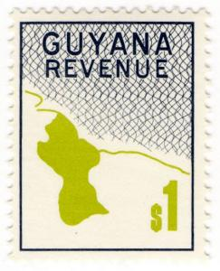 (I.B) British Guiana (Guyana) Revenue : Duty Stamp $1