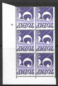 Sg D82 5p 1970 Decimal Postage Due Cyl 8 no dot UNMOUNTED MINT/MNH