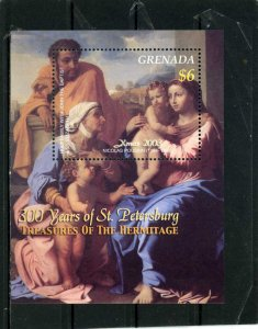 GRENADA  2003 Sc#2412 CHRISTMAS PAINTINGS FROM HERMITAGE S/S MNH