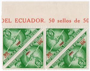 (I.B) Ecuador Postal : Airmail Overprint 50c (1939)