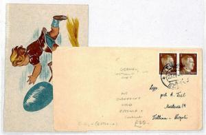 ESTONIA WW2 Cover & Easter Card 1943 Germany Occupation {samwells-covers}CU46
