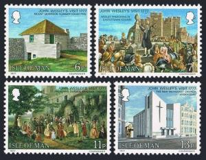 Isle of Man 105-108,MNH.Michel 101-104. John Wesley's visit,200,1977.Churches.
