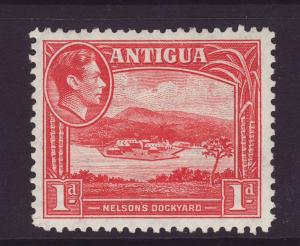 1938 Antigua 1d Nelson's Dockyard Mint