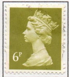 Great Britain Sc MH204 1993 6p brt ol green  QE II  Machin Head stamp used