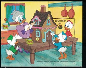 Lesotho SC558 Souv.Sht. Disney Characters-Huey&Dewey MNH 1986