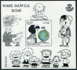 HERRICKSTAMP NEW ISSUES SPAIN Sc.# 4193 Graphic Humor 2017 - Quino S/S