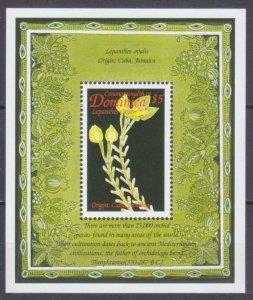 1999 Dominica 2637/B372 Flowers 5,00 €