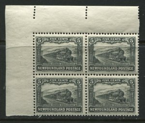 Newfoundland 1928 5 cents corner block of 4 unmounted mint NH