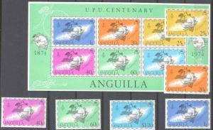 Anguilla 199-204,204a MNH UPU SCV3.50