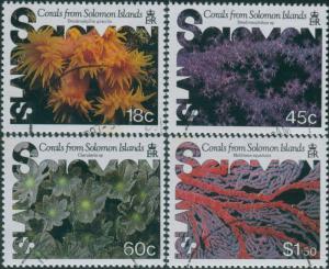 Solomon Islands 1987 SG576-579 Corals set FU