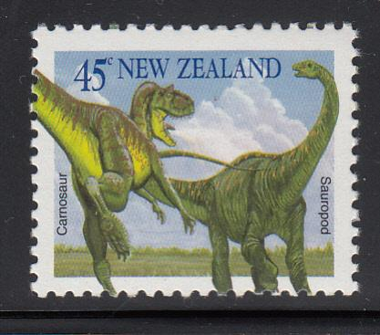New Zealand 1993 MNH Scott #1185 45c Carnosaur, sauropod Dinosaurs Booklet stamp