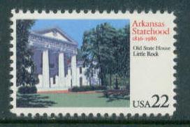 2167 22c Arkansas Fine MNH Plt/4 UR A111111 F02050
