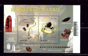 Brazil 2828 MNH 2001 Minerals S/S